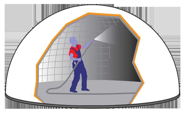 напыление торкрет бетона на пневмоопалубку