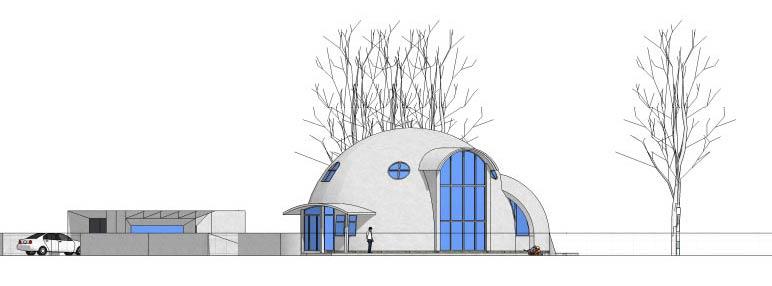 Круглый дом: архитектурно-планировочное решение