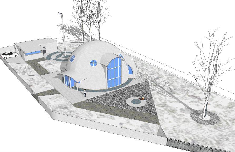 Круглый дом- архитектурный проект, общий вид